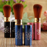 New Portable 1PC Retractable Blush Makeup Brush Retractable Pro Foundation Cosmetic Blusher Face Powder Brushes Beauty