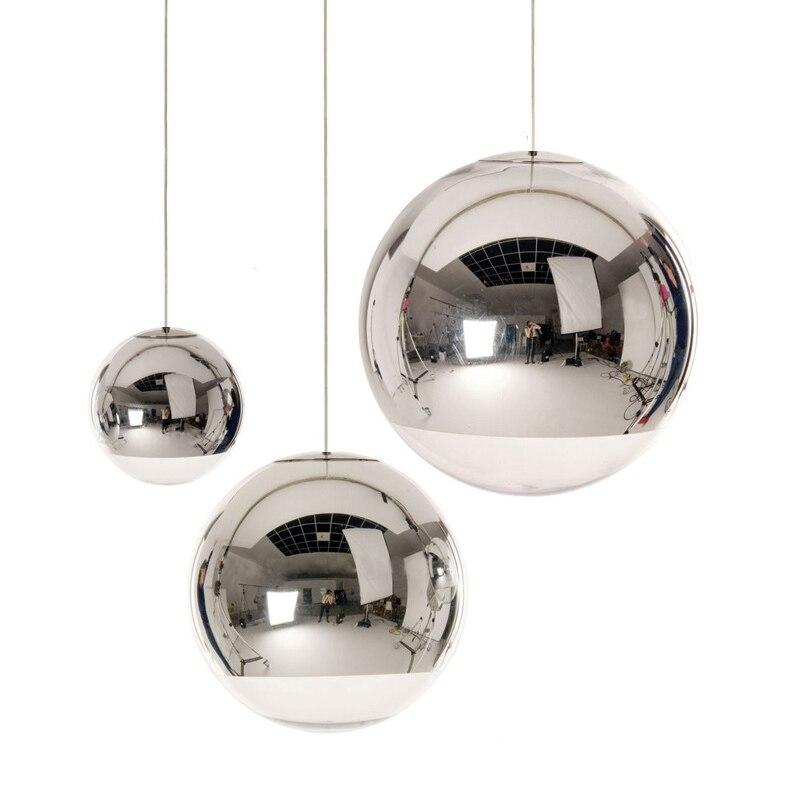 Modern Pendant Lights Glass Hanging Lamp Globe Mirror LED Lamp For Kitchen Living Room Home Lighting KTV Bar Light Fixtures