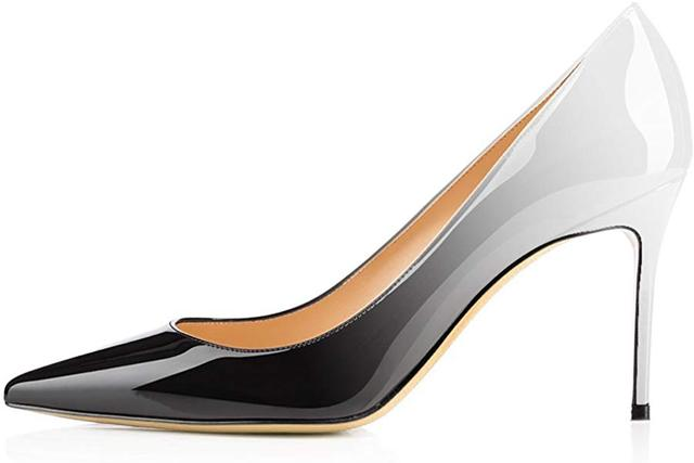 38069962f13c Modemoven Women s Pointy Toe High Heels Slip On Stilettos Large Size  Wedding Party Evening Pumps Shoes