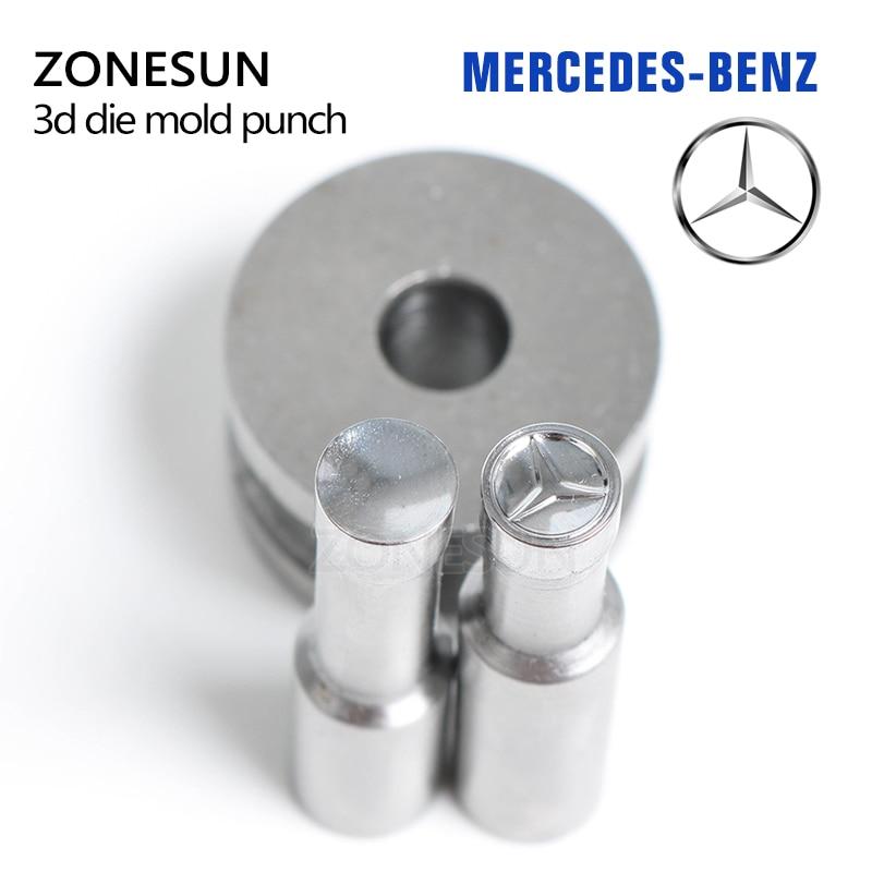 ZONESUN Stamp die mold MERCEDES-Benz Punching Set Stamp tablet die for pills candy press equipment TDP 0/1.5/5 a215 baterpak stamp circlar round die mold press mold punch die mould press die dia 6mm round tdp 0 1 5t 5t