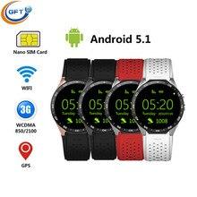 GFT KW88 Android 5.1 OS MTK6580 Smart Uhr smart uhr SmartWatch unterstützung 3G SIM Wifi Bluetooth Herzfrequenz pk kw88 d5 x5 i2