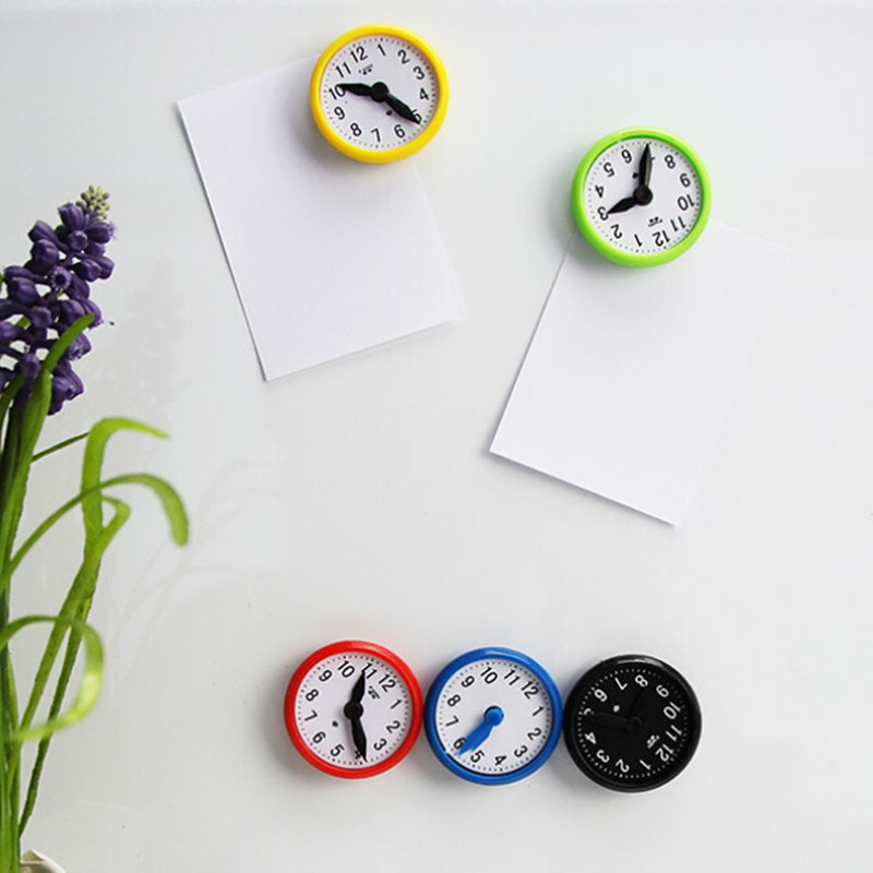 5Pcs/set Message Board Magnetic Sticker Hand Appropriated Clock Shaped Fridge Magnet Teaching Whiteboard Home Decor