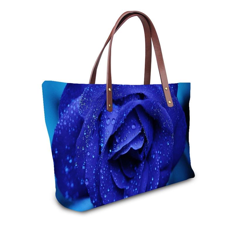 46d7899d58 Γυναικεία τσάντα Tote Τσάντες εκτύπωσης τριαντάφυλλο Τσάντα ώμου ...