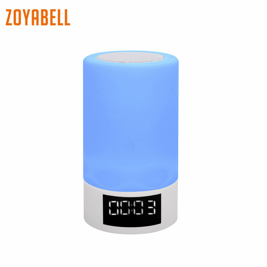 zoyabell Led Night Light Lamp Music Player FM Speaker TF Card Bluetooth Table Lamp Portable Baby Kids Bedroom Sleeping Light ws 980 car model style portable 2 channel rgb light speaker w fm tf black transparent