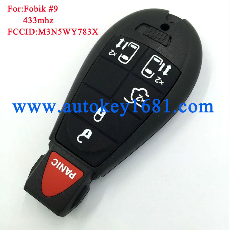 FCCID M3N5WY783X 5 1Buttons 46Electronic Chip with uncut blade remote key For Dodge 08 10 Grand