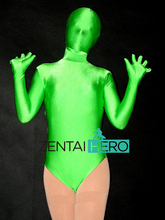 Free Shipping DHL Sexy Lady's Shocking Green Lycra Spandex Leotard Party Cosplay Costume Zentai Catsuit TM124