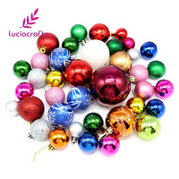 Lucia Crafts Colorful Plastic Christmas Ball Xmas Tree Baubles Hanging Party Ornament DIY Decoration Supplies 046011007