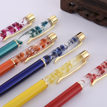 1pc Luxury Flower Metal Ballpoint Pens 1mm Business High Quality Ball Pens For Kids Girls Gift School Supplies Office Stationery
