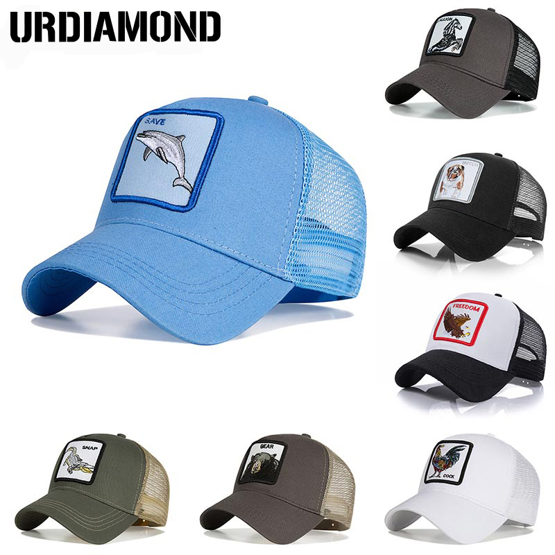 Best Sale  URDIAMOND 2018 Baseball Cap For Men Women Summer Mesh  Embroidery Animal Bones Snapback Hip Hop Hat Casual Cotton Casquette  e167da921b75