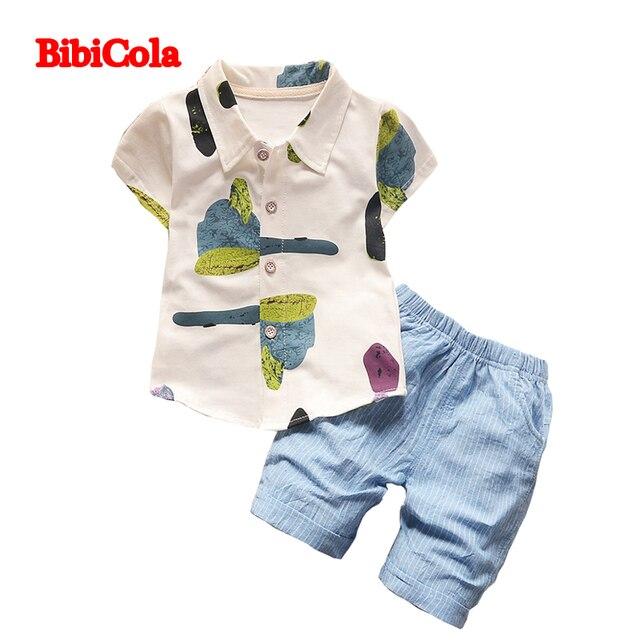 6f10ebaaa96b BibiCola 2PCS Suit Baby Boy Clothes Children Summer Toddler Boys Clothing  Set Tank Top + Pants Children Boy Short Sleeve