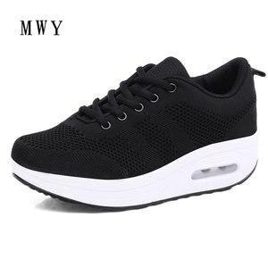 Image 4 - MWY Frauen Casual Plattform Schuhe Mode High Heels Schuhe Frau Zwängt Frauen Weiße Turnschuhe Schuhe Heigh Erhöhung zapatos mujer