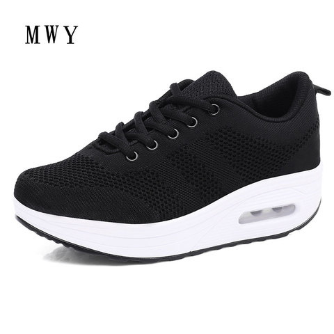 MWY Women Casual Platform Shoes Fashion High Heels Shoes Woman Wedges Women White Sneakers Shoes Heigh Increasing zapatos mujer Islamabad