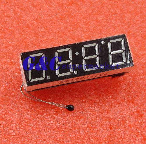 New Car LED Digital tube Clock Voltage Detector Temperature Detection Module ...