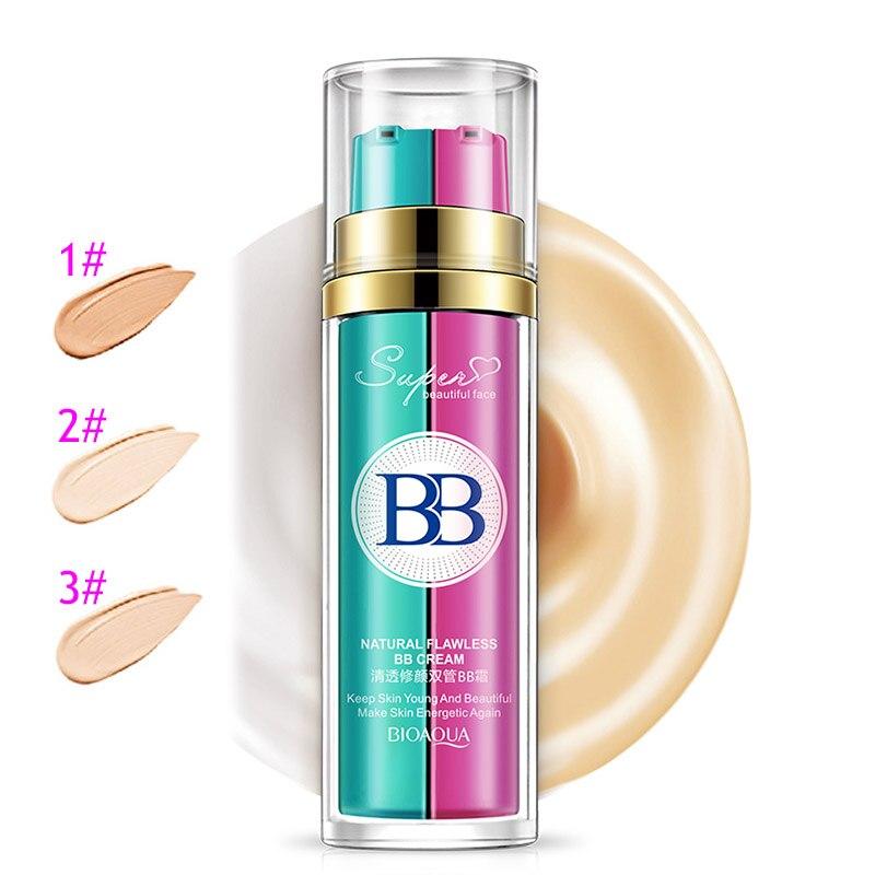 BIOAQUA BB Cream + Makeup Primer Concealer Hydrating Moisturizer Brighten Skin Nude Cosmetics Base HJL2017