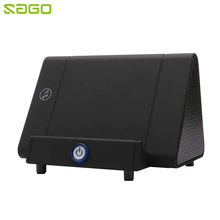 Sago Transportable Induction Speaker Tremendous Bass Boombox Wi-fi Speaker with Telephone Dock Holder for Samsung iPhone Xiaomi Huawei HTC