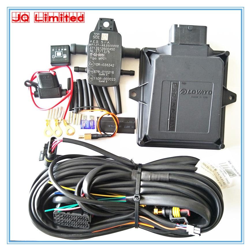 4 silindirli LOVOTA ECU kitleri için LPG CNG dönüşüm kiti arabalar için istikrarlı ve dayanıklı GPL GNC kitleri
