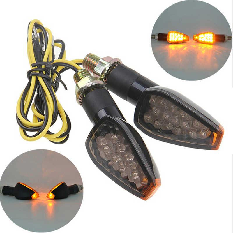 1Pc Motorfiets Voor Achter Richtingaanwijzer Stuur Lamp Super Heldere Waterdichte Led Steering Licht