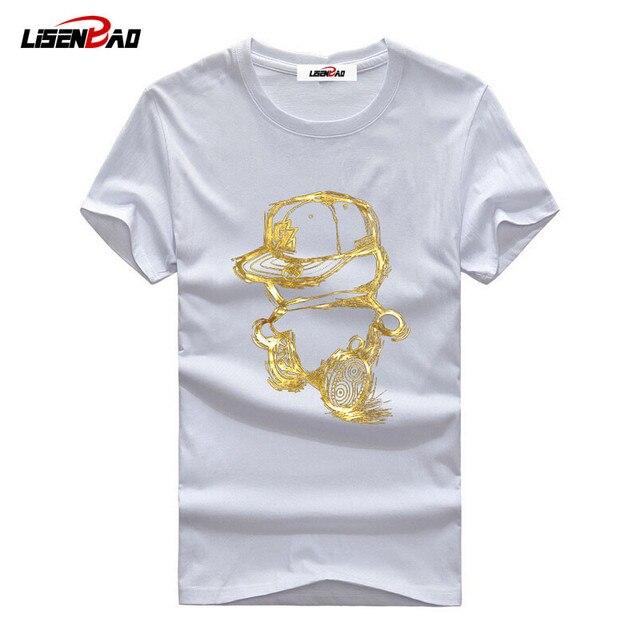 35f385e9 new arrival men fashion 2018 summer style high quality men's tshirt cotton  cartoon Golden Boy printed T shirt men brand tee 5XL