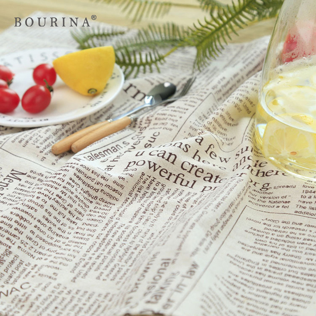 Bourina 4 шт./компл. современный скатерть газета классическая настольная салфетки пищевой фотография guardanapo де Tecido полотенце Y060