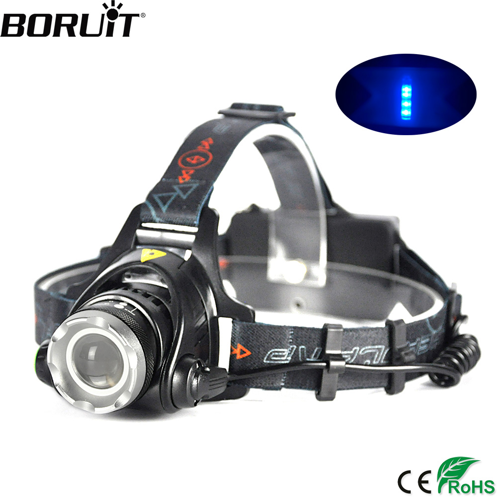 BORUiT 2000LM XML-T6 LED Scheinwerfer 3-Modus Scheinwerfer Zoom Einstellbare Taschenlampe Jagd Camping Kopf Fackel durch 18650 Batterie