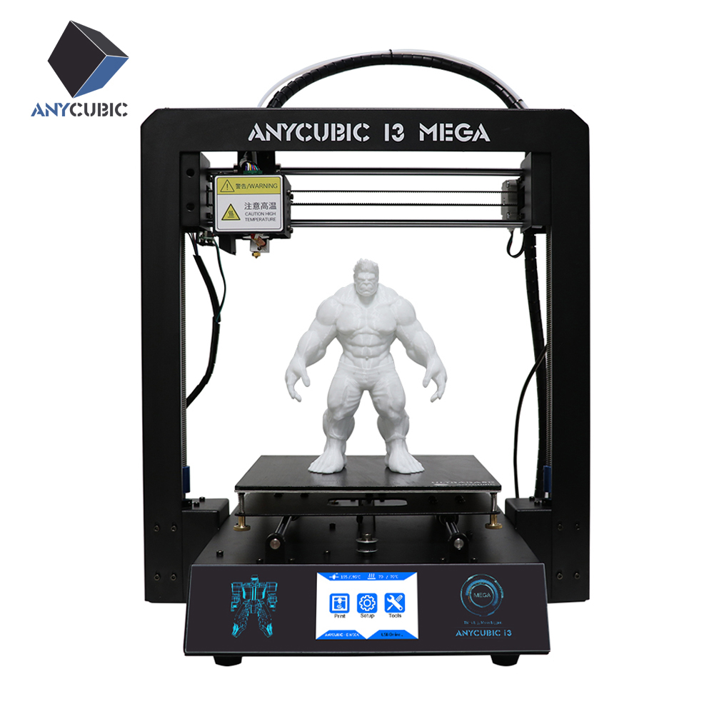 ANYCUBIC 3D printer I3 Mega Large Printing Size Full Metal Frame Lattice Platform Patented Desktop 3d Printer Diy Kit for Gift