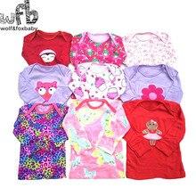 Розничная, 5 шт./лот, футболка с длинными рукавами для детей от 0 до 24 месяцев Одежда для новорожденных с героями мультфильмов для маленьких мальчиков и девочек, милая одежда весна-осень