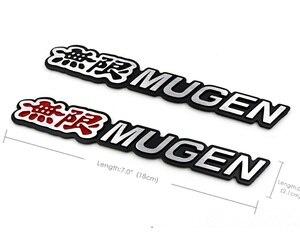 Image 3 - 3D алюминиевые детали, эмблема Mugen, хромированный логотип, задний знак, стикер для багажника автомобиля, Стайлинг Для Mugen Honda Civic Accord CRV Fit и т. Д.