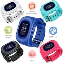 LIGE Newest Children Smart Watch SIM Card Call Chat LBS locator Tracker Anti-lost Smart Bracelet SOS Remote Child Monitoring+Box