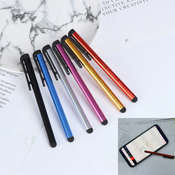 2 sztuk/partia pojemnościowy ekran dotykowy rysik dla IPhone IPad IPod dotykowy garnitur dla innych smartfonów Tablet metalowy rysik ołówek