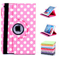 Fashion Polka Dots 360 Rotating Swivel Stand Smart Case Cover Smartcover Slim PU Leather for iPad mini 1 2 3 Gen Retina Display