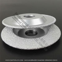 2PCS 4 Vacuum Brazed Diamond Cup Wheel For Multi Purpose Convex Grinding Wheel For All Stone