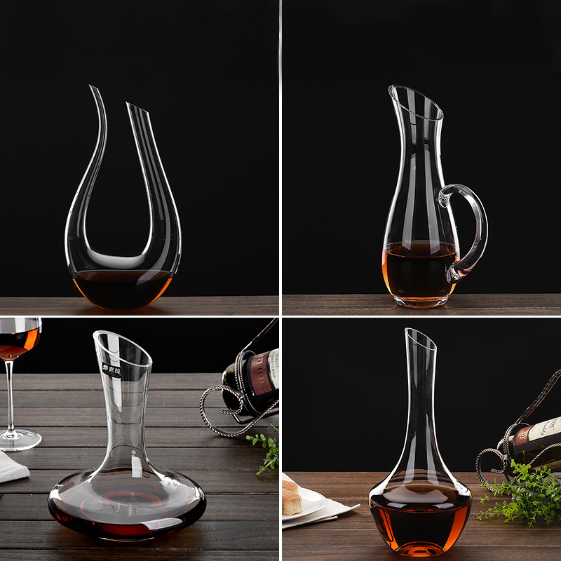 Personalized Household Lead-free Synthetic Crystal Red Wine Decanter Glass Wine Pot Bar Accessory Tool Water