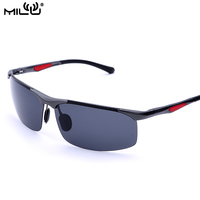 MILU Luxury Brand Logo Sunglasses Men Aluminum Polarized Outdoor Sports Fishing Accessories oculos de sol masculino 5027