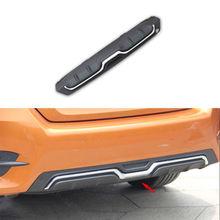Carbon Fiber Color Fit For Honda Civic 16+ Rear Bumper Lip Diffuser Guard Cover