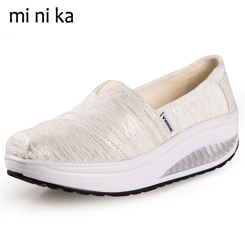 MINIKA 2017 Canvas Summer Shoes Women Flats Casual Ladies Breathable Women Flat Shoes Platform Female Fashion Loafers SNE-767 fashion embroidery flat platform shoes women casual shoes female soft breathable walking cute students canvas shoes tufli tenis