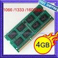 НОВЫЙ 4 ГБ DDR3 1066 МГц/1333 МГц/1600 МГц SODIMM 204-контактный 4 Г памяти ddr3 Ноутбука PC3 8500 10600 12800 Ноутбук БАРАНА Полностью Протестированы