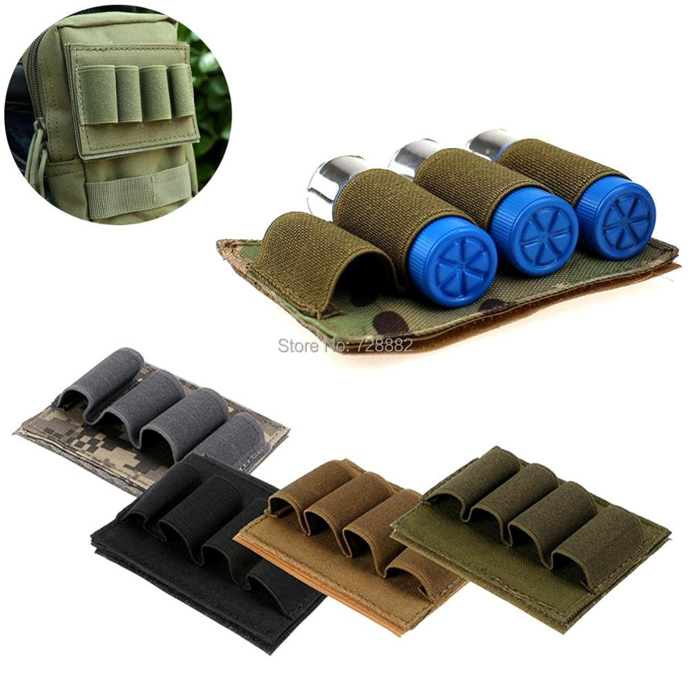 Tactical Buttstock 12 Gauge 4 Rounds Ammo Carrier Pouch Holder Shotgun Shell Cartridges Pouch