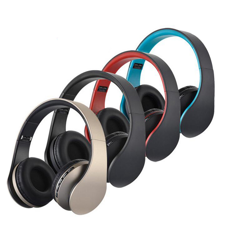 Original Wireless Portable Mini Bluetooth Headphone Stereo Headset with Mic Support TF Card FM radio Foldable Earphones Earbuds