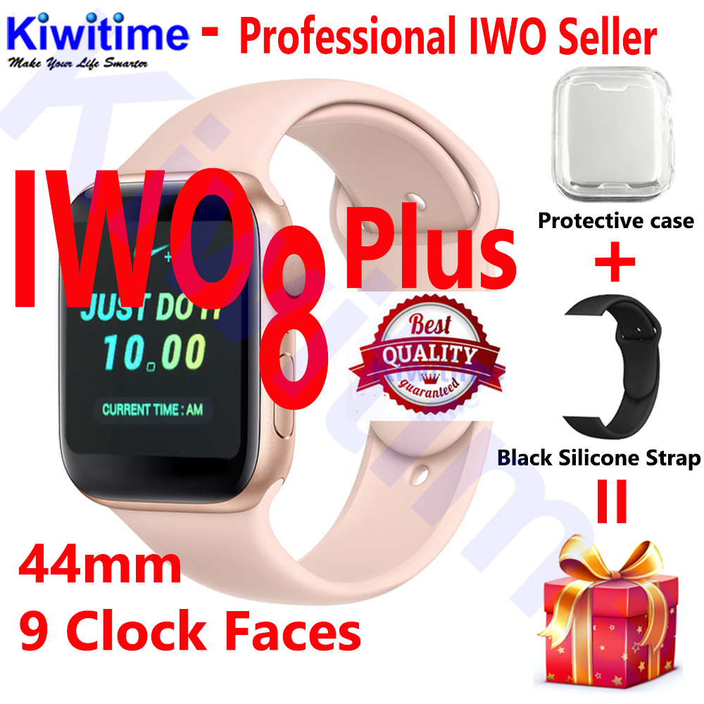 KIWITIME IWO 8 PLUS 44mm Watch 4 Heart Rate Smart Watch case for apple iPhone Android