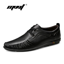 New Fashion Men Casual Shoes Genuine Leather Plus Size Male Flats Loafers Soft Comfort Sneakers Dropshipping