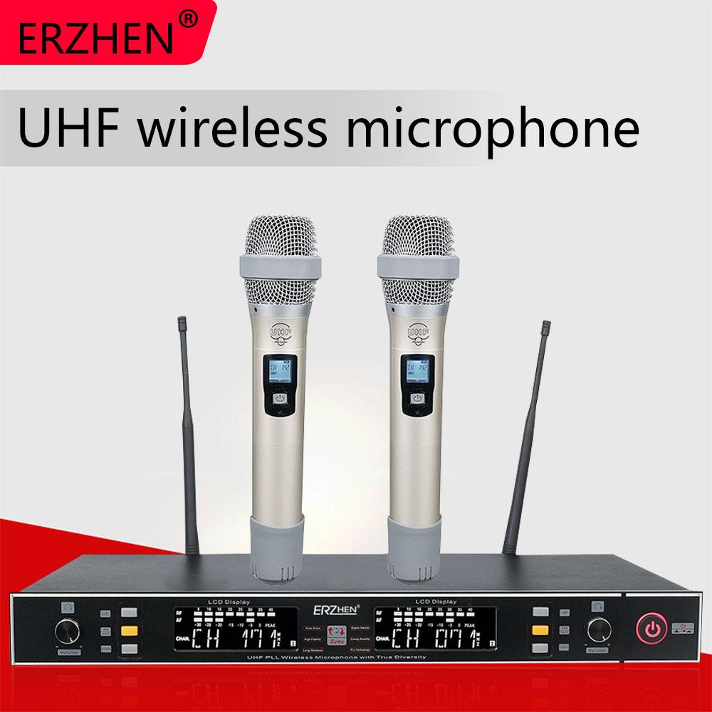 Vente chaude sans fil micro professionnel sans fil système de Microphone R-U889 haute qualité sans fil Microphone
