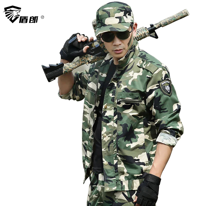 Military Uniform Tactical Green Camouflage Clothes US Army Uniforme Ropa Militar Multicam Clothing Combat Jacket +Cargo Pant Men