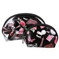 2016 Hot Travel Essential Transparent PVC Waterproof Toiletry Wash Bathing Supplies Storage Bag Makeup Cosmetic Bags 3pcs