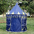 Grande Azul Príncipe Tenda Bonito Crianças Jogo Tenda Casa Jogo Criança Bonita Jogo Tenda Interior E Exterior