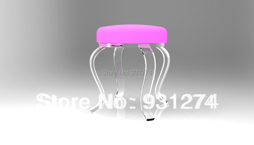 Один люкс прозрачный акриловый стул S ноги, четыре ноги Lucite Perspex домашние табуреты
