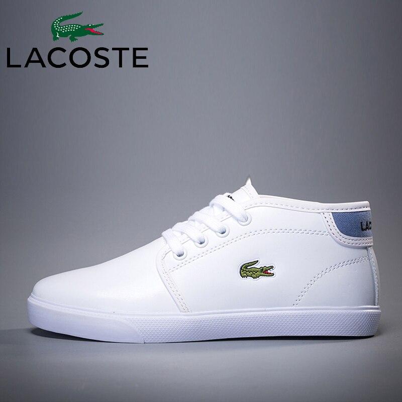 Lacoste hommes et de femmes en plein air haut-dessus chaussures de skateboard hommes respirant dames chaussures tendance chaussures à semelle souple de sport sho