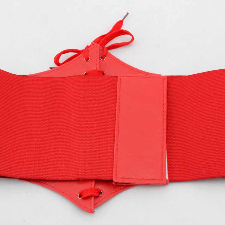 2019 Corset Brede Pu Leer Afslanken Body Riemen voor vrouwen Elastische Hoge Taille Riemen cinto sobretudo feminin ceinture femme fajas