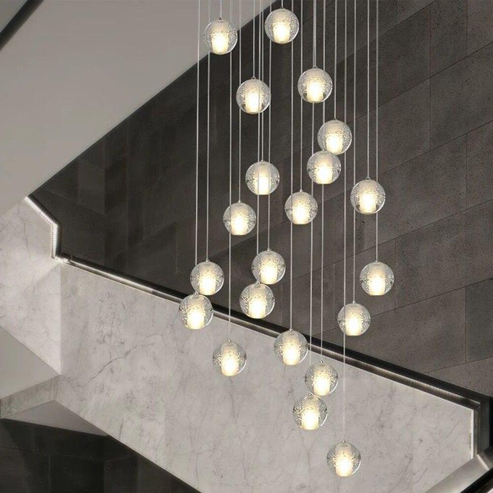 G4 moderno led pandant luzes múltiplas escadas luminárias moda  sala de estar quarto restaurante jantar cozinha iluminaçãopandant  lightlamp fixtureskitchen light
