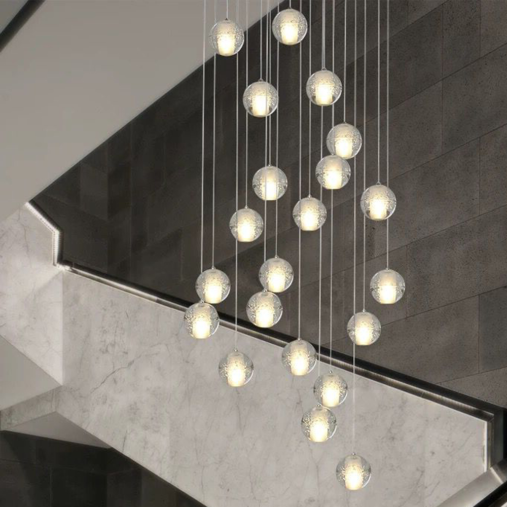 Modern G4 LED Pandant Lights Multiple Staircase Lamps Fixtures Fashion Living Bedroom Decora Restaurant Dining Kitchen Lighting
