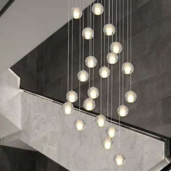 Modern G4 LED Pandant Lights Multiple Staircase Lamps Fixtures Fashion Living Bedroom Decora Restaurant Dining Kitchen Lighting - DISCOUNT ITEM  22% OFF All Category